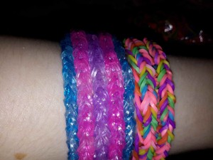 The other side of the reversible bracelets.